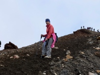 Coming off Mt Tongariro