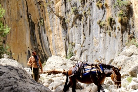 You never know what you will pass - Samaria Gorge, Crete