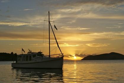 Sunset over Agnes - Coromandel