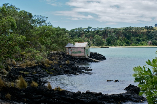Old boatshed Rangitoto