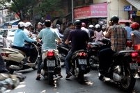 Motorcycle mayhem, Hanoi