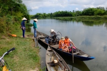 Thu Bon Delta ( Vietnam): We used multiple forms of transport to cross to the many islands in the delta. We cycled across bamboo bridges, through rice paddies and small villages. A great ride